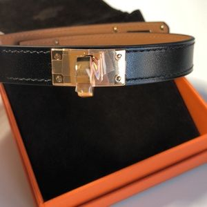 Hermès double tour bracelet rose gold hardware